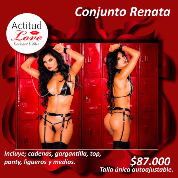 conjunto de lencería sensual erótica renata, en sex shop cucuta, en tienda erotica cucuta,